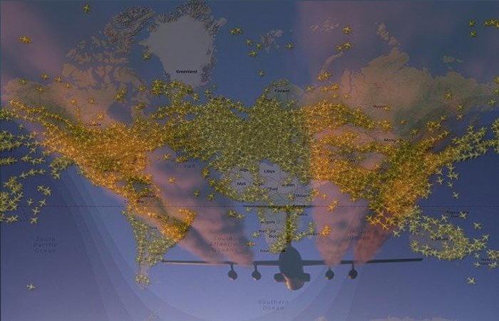 aerei in volo ogni giorno