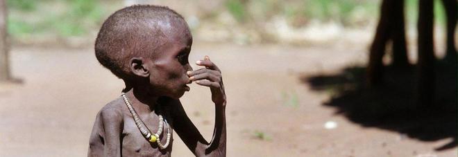 bambini africani malati e denitriti