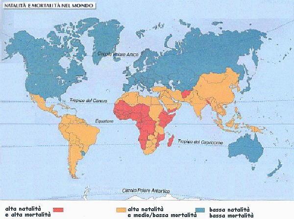numeri statistici natalità e mortalità