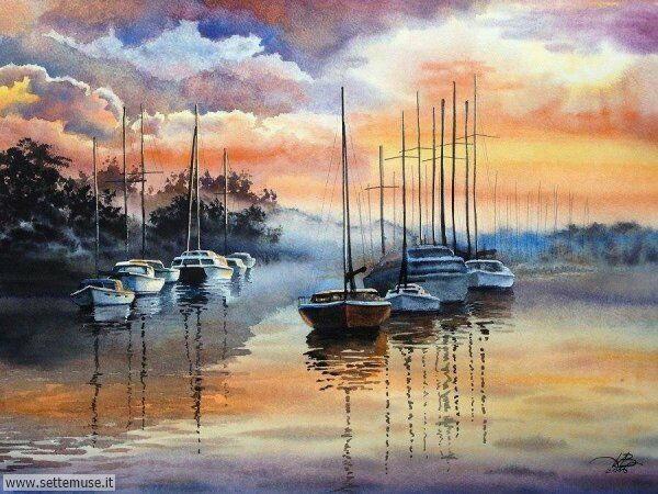 opere d arte bellissime sul tema barche e navi