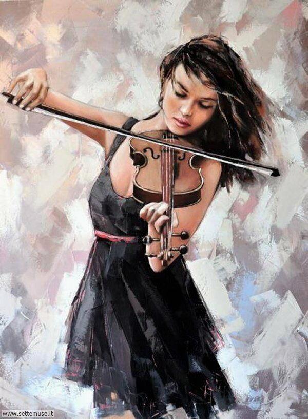donne eleganti e musiciste Alexander Gunin