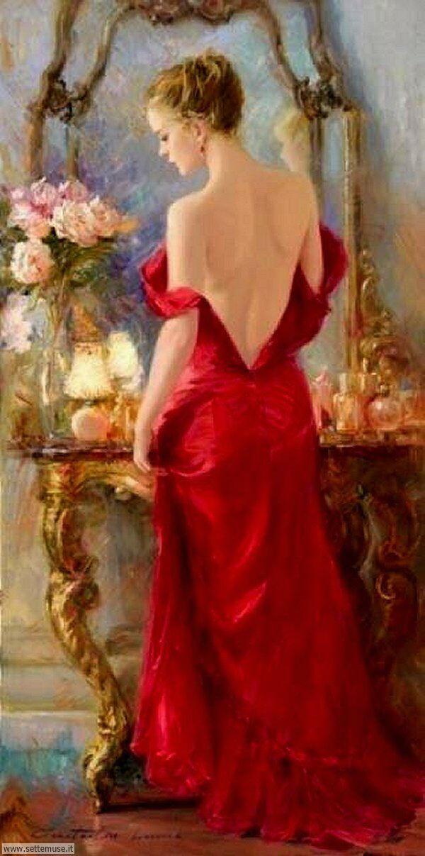 donne eleganti e musiciste Constantine Lvovich