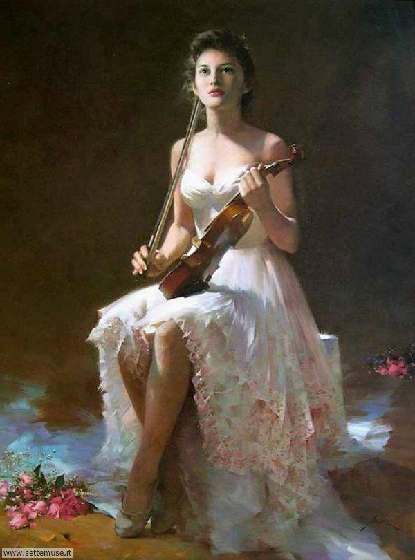 donne eleganti e musiciste Un lui