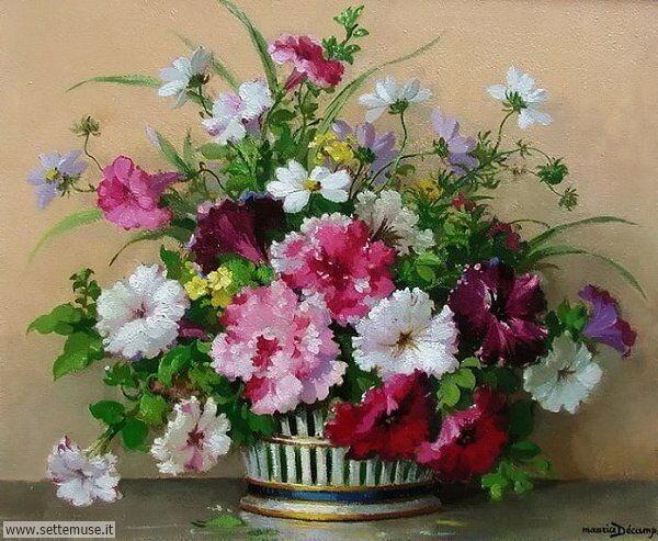 vasi di fiori Maurice Alfred Joseph Décamps