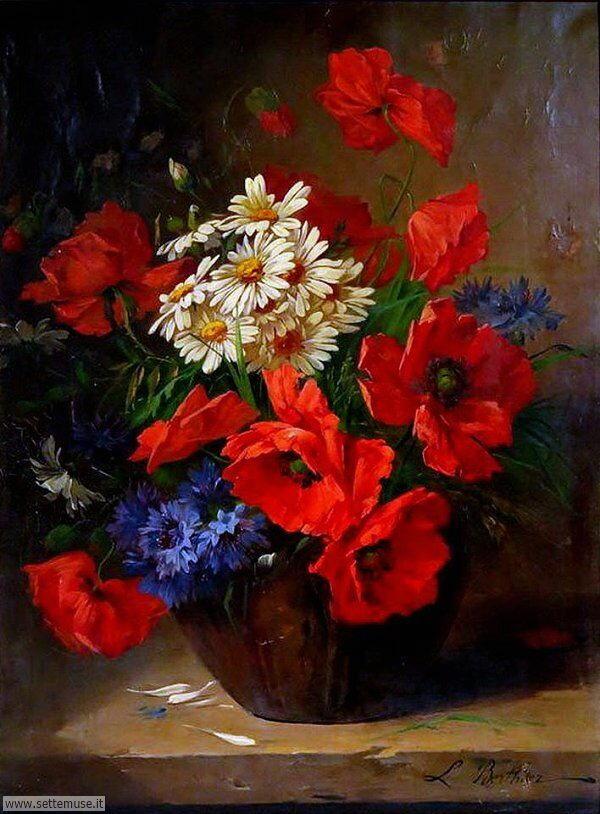 vasi di fiori Victor Léopold Berthier