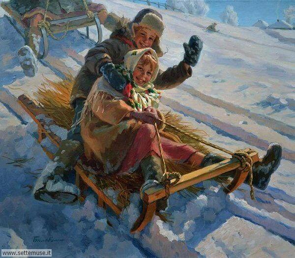 paesaggi con neve Eugeni Balakshin