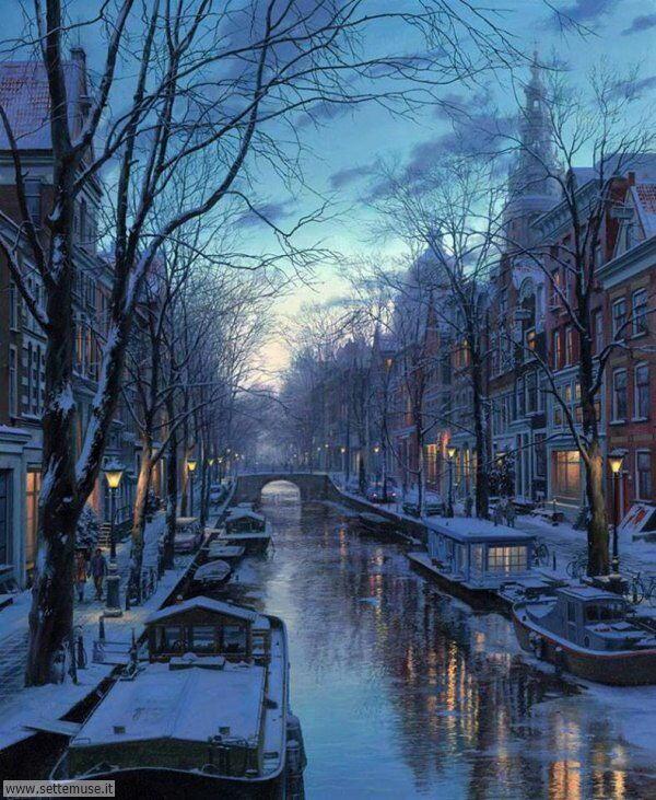 paesaggi con neve Evgeny Lushpin 2