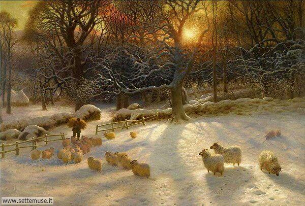 paesaggi con neve Giuseppe Farquharson 2