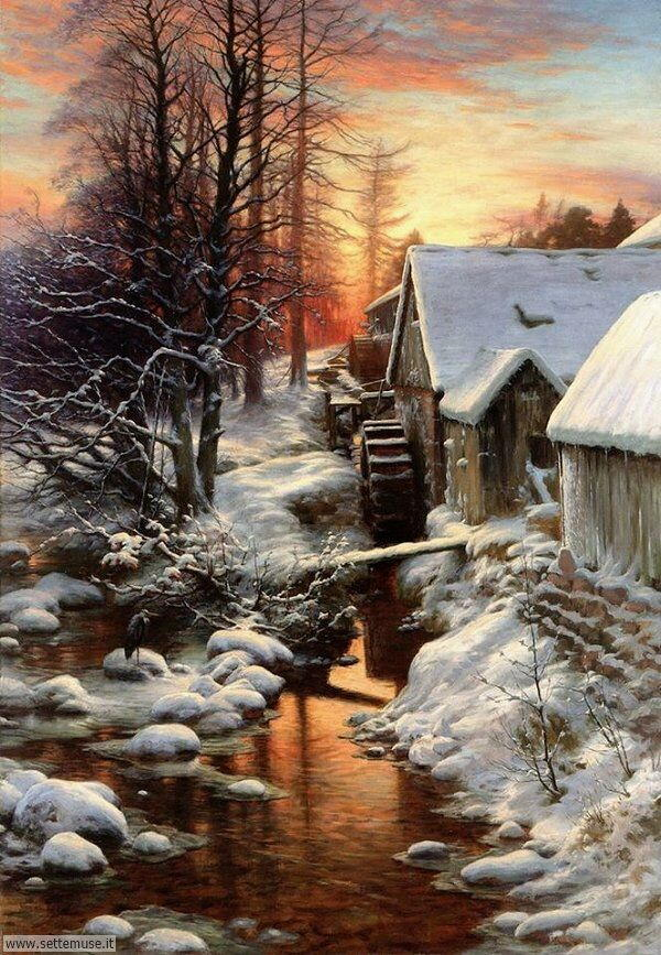 paesaggi con neve Giuseppe Farquharson