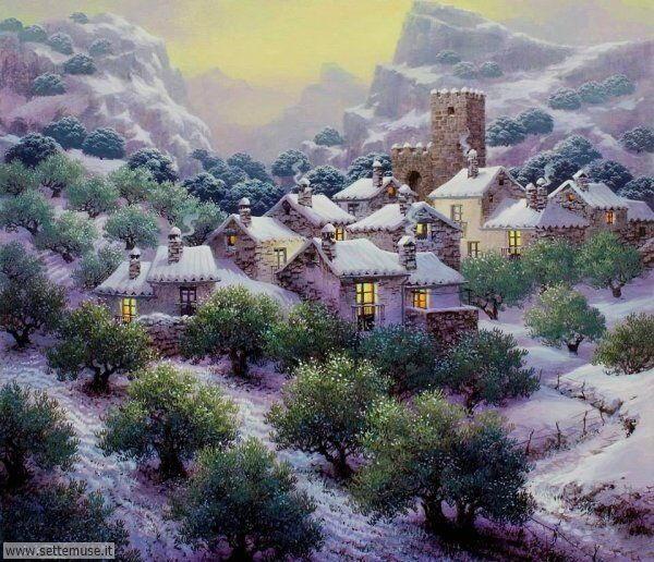 paesaggi con neve Luis Romero