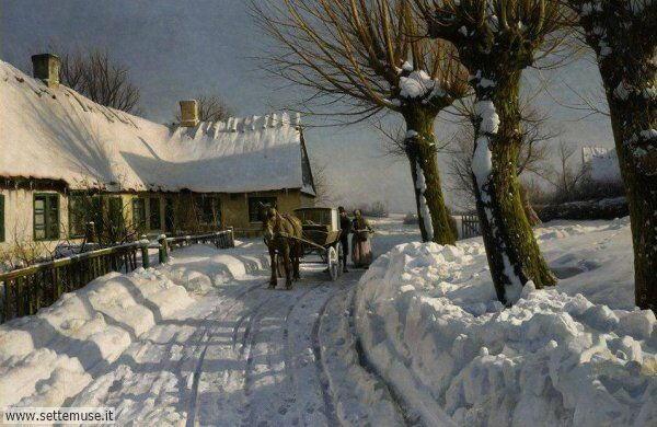 paesaggi con neve Peder Mork Monsted