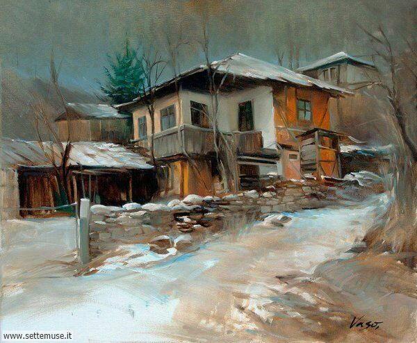 paesaggi con neve Vasil Vasilev