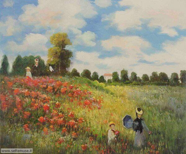 paesaggi romantici Claude Monet