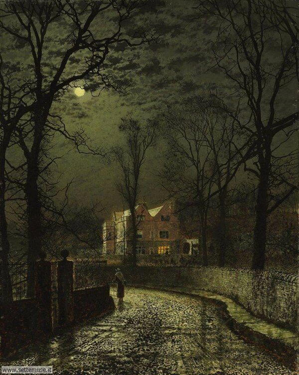 paesaggi romantici John Atkinson Grimshaw