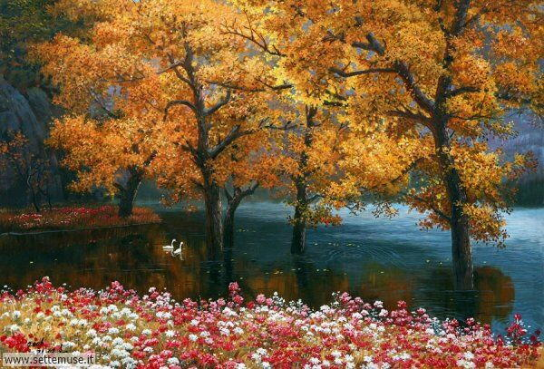 paesaggi romantici Kang Jung Ho