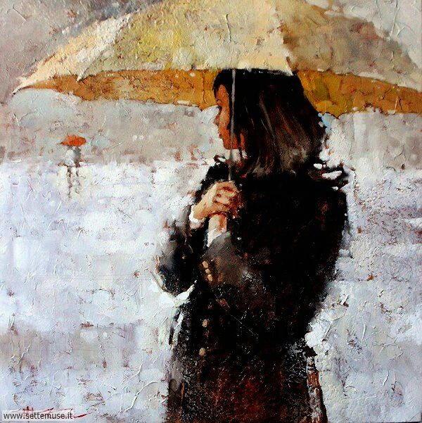 gente sotto la pioggia dipinti di Andre Kohn 2