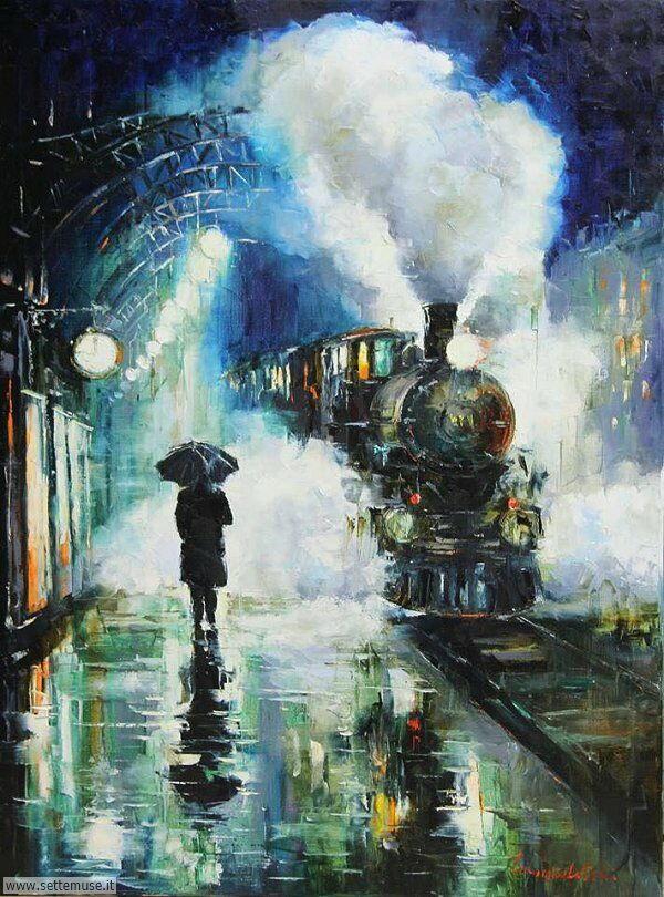 gente sotto la pioggia dipinti di Gleb Goloubetski 2