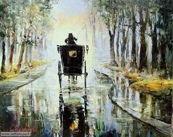 gente sotto la pioggia dipinti di Gleb Goloubetski 4
