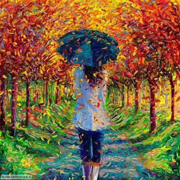 gente sotto la pioggia dipinti di Iris Scott