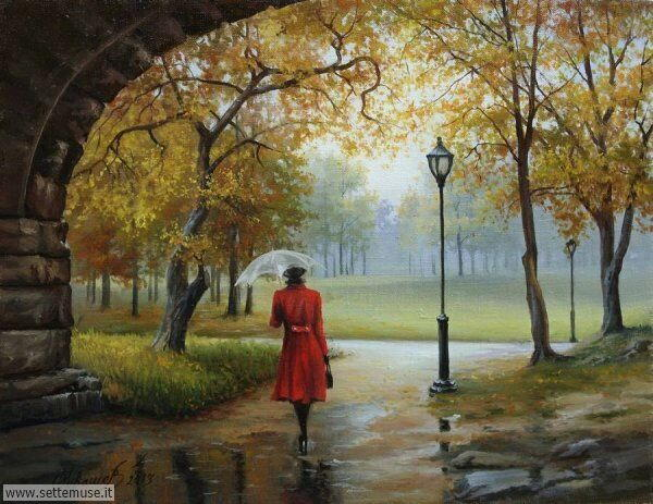 gente sotto la pioggia dipinti di senza nome