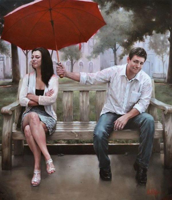 gente sotto la pioggia dipinti 4