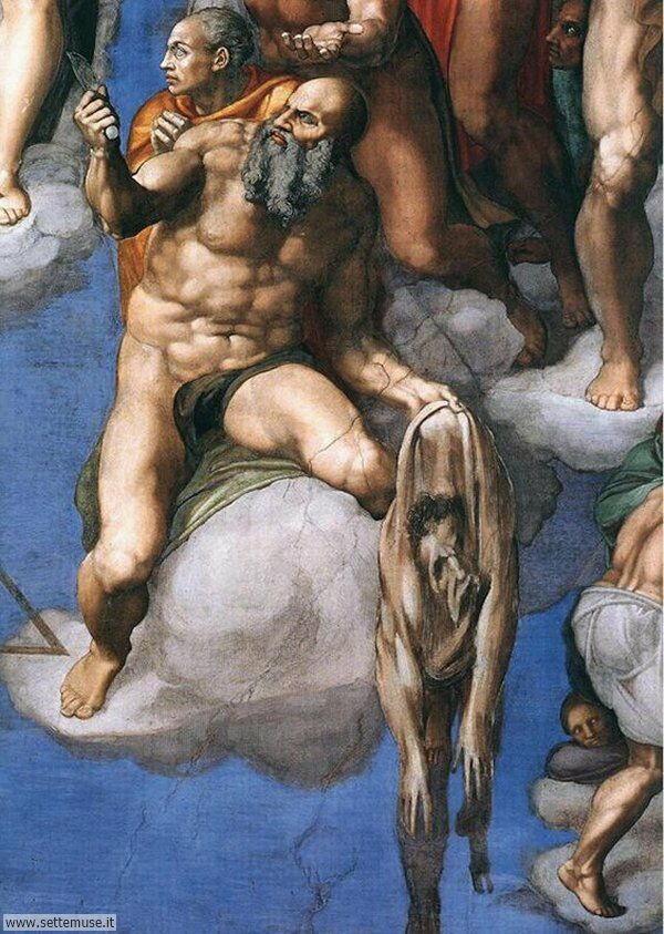 bellissimi affreschi cappella sistina dettaglio
