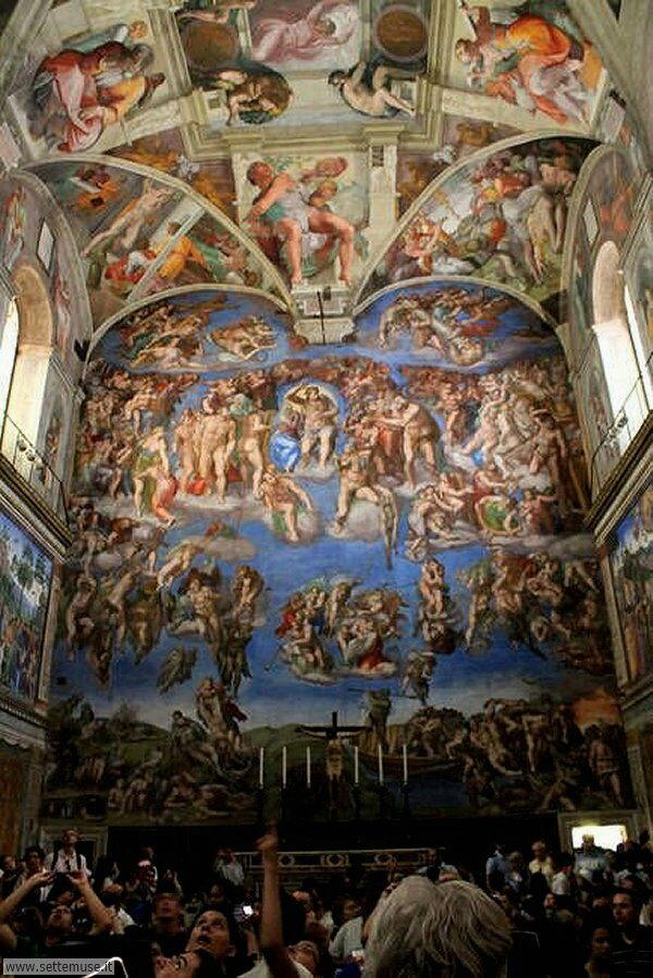 bellissimi affreschi cappella sistina