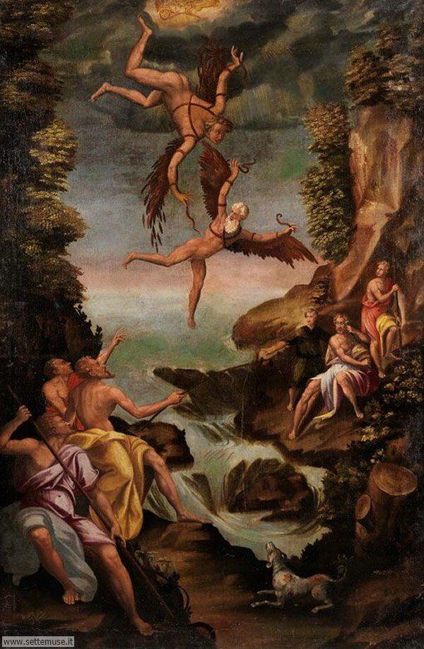 bellissimi affreschi Icaro e Dedalo