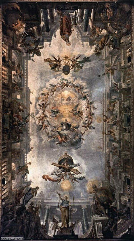 bellissimi affreschi Sinfonia della virtù - Giovanni Alberti