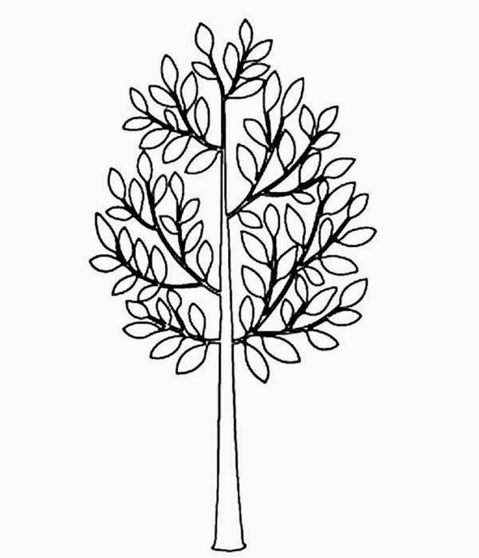 Disegni da colorare tema alberi for Foto di alberi da colorare
