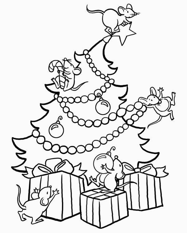 Disegni Da Colorare Albero Di Natale Stilizzato Immagini Di Natale