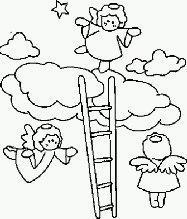 Disegni da colorare: angeli