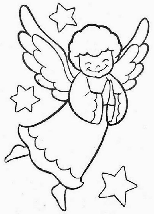 Disegni da colorare tema angeli for Immagini da colorare di angeli