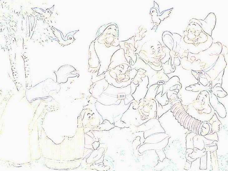 Biancaneve Da Colorare Per Bambini: DISEGNI DA COLORARE: Tema BIANCANEVE