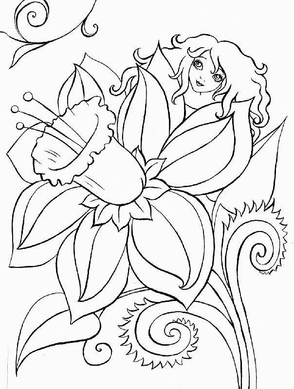 Disegni da colorare tema fiori for Disegni fiori da colorare