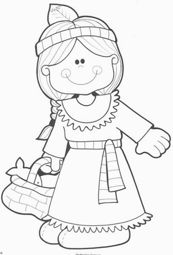 Disegni da colorare tema indiani for Indian coloring pages for thanksgiving