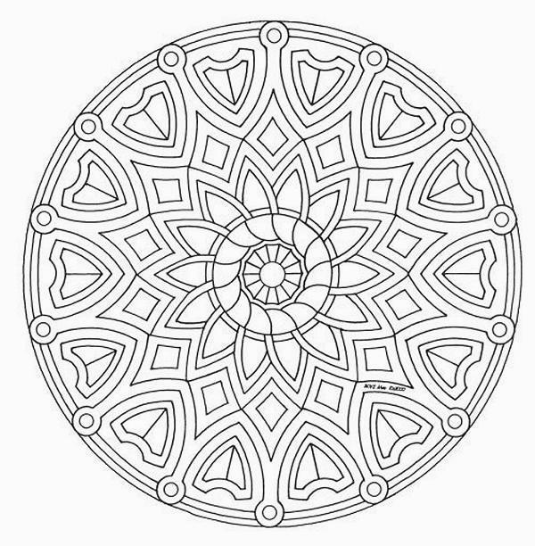 Disegni da colorare tema mandalas for Disegni di mandala semplici