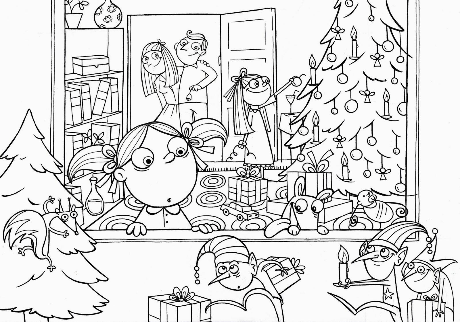Bambini albero e regali