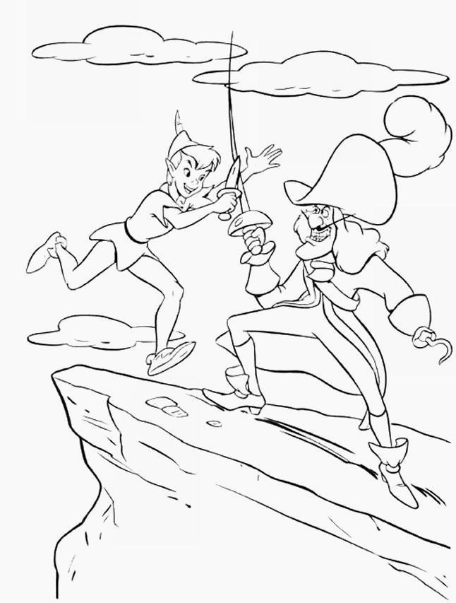 Disegni Da Colorare Tema Peter Pan Settemuse It