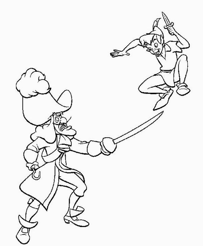 Disegni da colorare tema peter pan - Coloriages peter pan ...