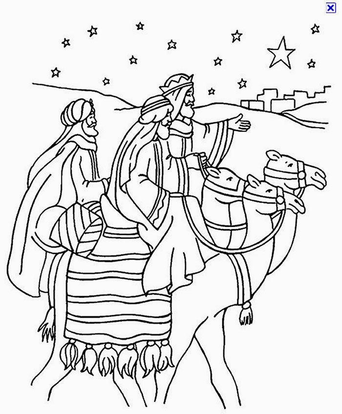 wisemen coloring pages disegni da colorare tema re magi