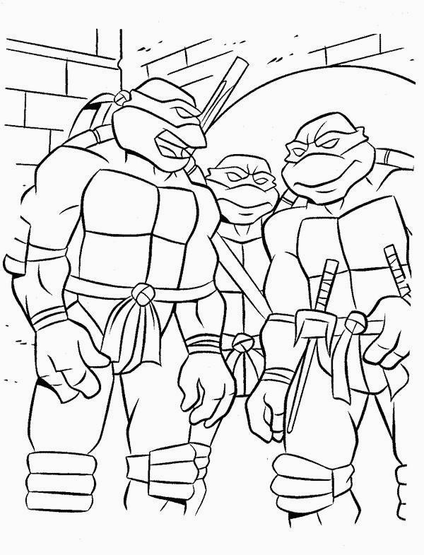 Disegni Da Colorare Tema Tartarughe Ninja Settemuse It