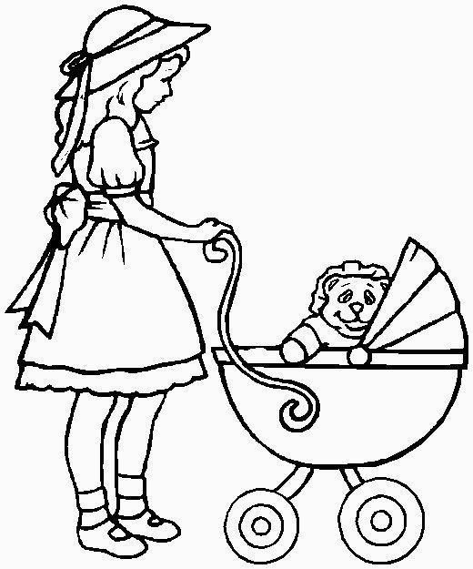 bambina con carrozzina