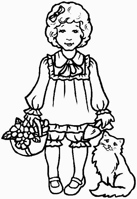 bambina con cestino