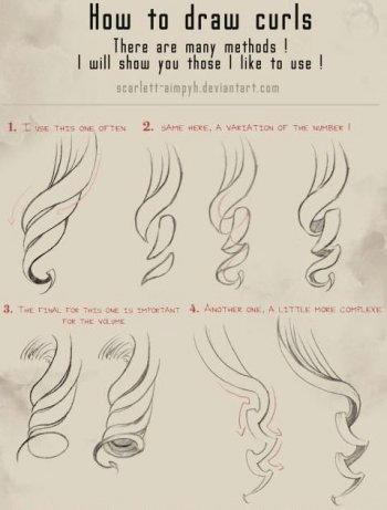 Disegnare capelli