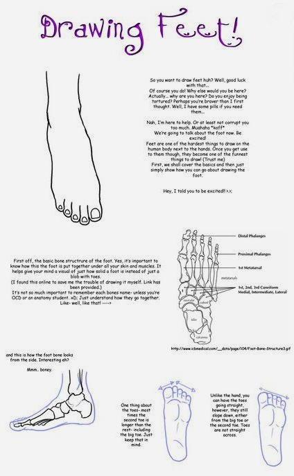 Disegnare i piedi