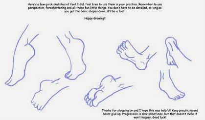 Disegnare i piedi 3