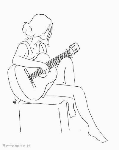 la chitarrista