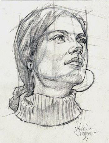 Disegnare un viso di donna 3