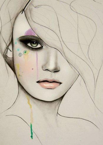 Disegnare un viso di donna 12